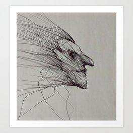 Dark fantasy/horror artwork by Gareth Walsh Art Print