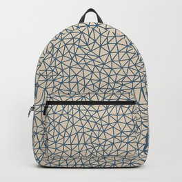 Blue Abstract Triangle Shape Pattern on Beige Pairs To 2020 Color of the Year Chinese Porcelain Backpack