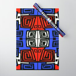 Blue & Red Wrapping Paper