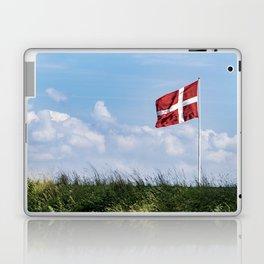 Dannebrog in the wind (Danish national flag) Laptop & iPad Skin