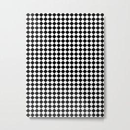 Small Diamonds - White and Black Metal Print