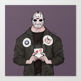 Jason's Downtime - Friday 13th Inspired Art Canvas Print