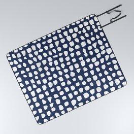 Dots / Navy Picnic Blanket
