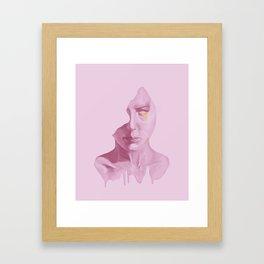 Golden tears Framed Art Print