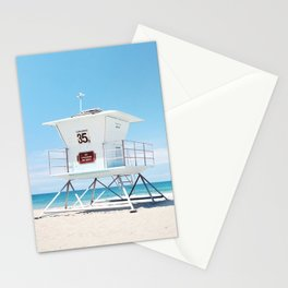 Lifeguard tower Carlsbad 35 Stationery Cards