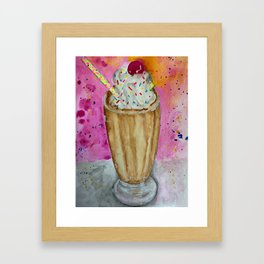 chocolate milkshake Framed Art Print