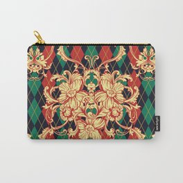 Eclectic vintage pattern. Argyle baroque ornament. Classical luxury damask hand drawn illustration pattern. Carry-All Pouch