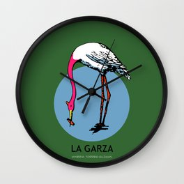 La Garza Mexican Loteria Card Wall Clock