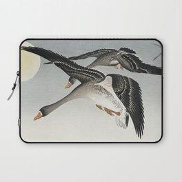 Birds at full moon (1900 - 1936) by Ohara Koson (1877-1945) Laptop Sleeve