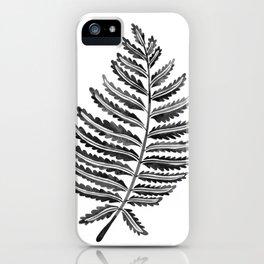 Fern Leaf – Black Palette iPhone Case