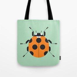 Lady Bug Green Tote Bag