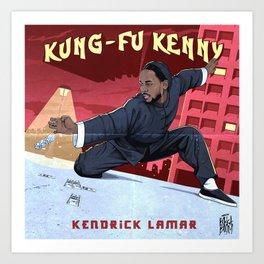 Kung Fu Kenny Art Print