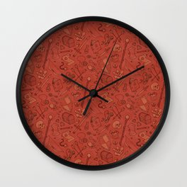Inventory in Red Wall Clock
