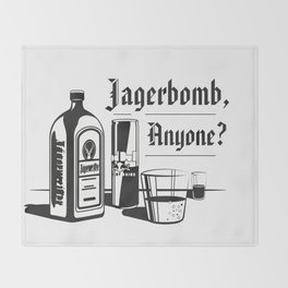 Jagerbomb, Anyone? Throw Blanket