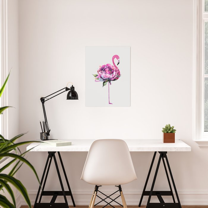 Flower Flamingo Poster