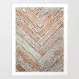 Herringbone Brick Art Print
