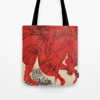 catcher in the rye Tote Bags featuring Catcher by Julia Lopez