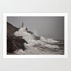 Wild Welsh Waves Art Print
