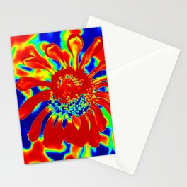 Abstract Zinnia Stationery Cards