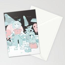 A demon's birthday Stationery Cards