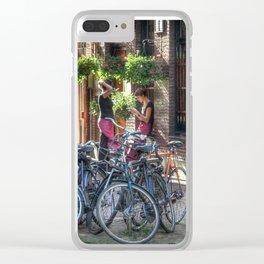 On A Break In Amsterdam Clear iPhone Case