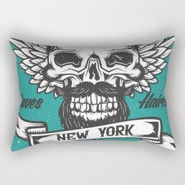 Barber Shop New York Rectangular Pillow