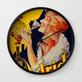 Vintage Bitter Astrid - Liquor Poster Wall Clock
