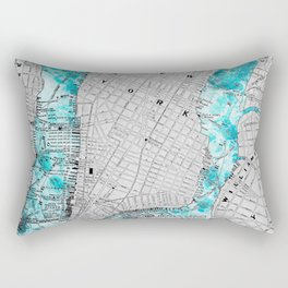 NEW YORK CITY OCEAN MAP Rectangular Pillow
