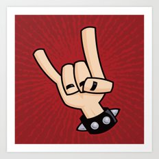Heavy Metal Devil Horns Hand Sign Art Print