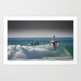 Mick Fanning  Surf, Hossegor- France - 2013 Art Print
