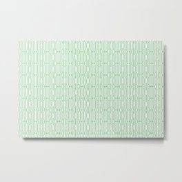 Pastel Mint Green Vintage Retro Art Decor Pattern on Off White Coloro 2020 Color of the Year Neo Min Metal Print