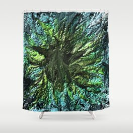 Glowing Sadness Shower Curtain