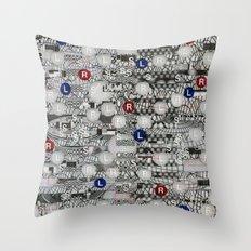 Do The Hokey Pokey (P/D3 Glitch Collage Studies) Throw Pillow