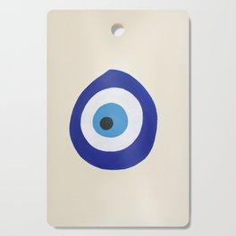 Blue Evil Eye Cutting Board