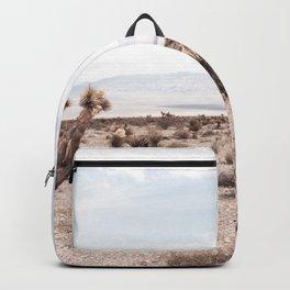 Cactus Range // Cowboy Mountains and Dusty Blue Sky Desert Landscape Backpack