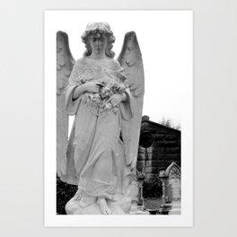 Angel Watching Over Me Art Print