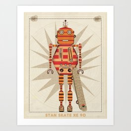 stan skate xe 90 Art Print