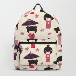 Japanese Neck Gator Geisha Girls Backpack