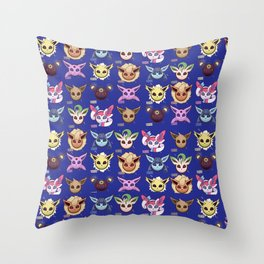Eeveelutions Blue Throw Pillow