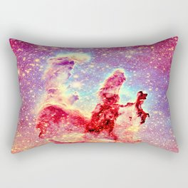 GALAXY : The Pillars of Creation Nebula Vibrant Warmth Rectangular Pillow