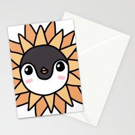 Sunflower Penguin Stationery Cards