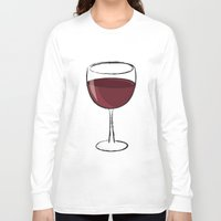 wine Long Sleeve T-shirts featuring Wine by jssj