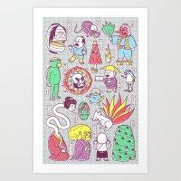 Yokai / Japanese Supernatural Monsters Art Print