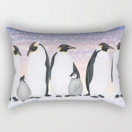 emperor penguin colony Rectangular Pillow