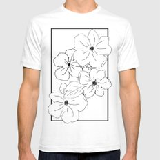 Flower Rectangle Mens Fitted Tee SMALL White