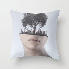 Mind Tree Throw Pillow