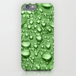 Morning dew water drop on leaf fresh nature full frame iPhone Case