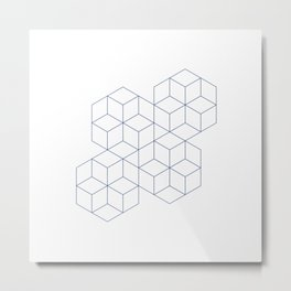 #339 Cubic dance – Geometry Daily Metal Print