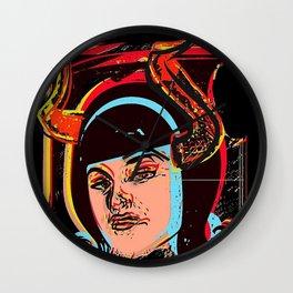 Devils horn pop art Wall Clock