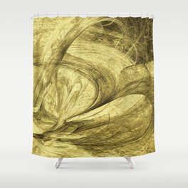 Flying threads of gold Shower Curtain